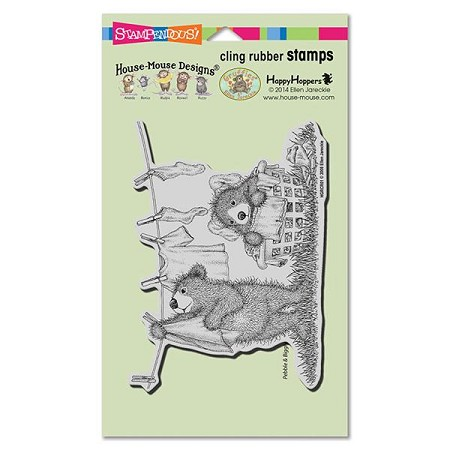 Stampendous - Cling Mounted Rubber Stamp - House Mouse Gruffies Laundry Day