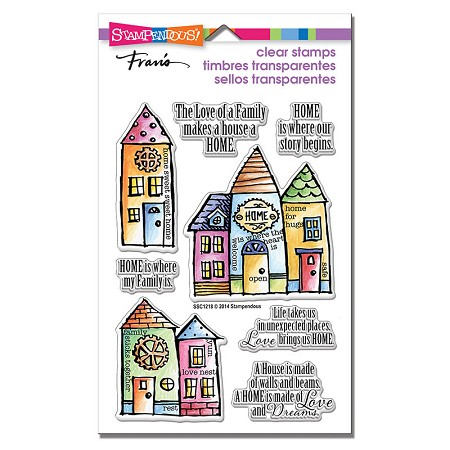 Stampendous Perfectly Clear Stamps - Family Home Perfectly Clear Stamps