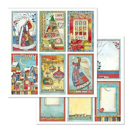 "Stamperia - Make A Wish - Christmas Cards 12""x12"" Paper"
