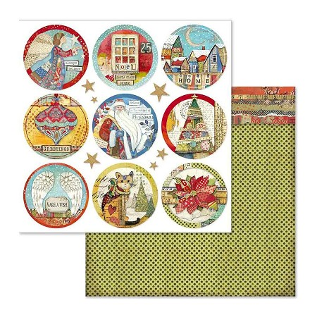"Stamperia - Make A Wish - Christmas Rounds 12""x12"" Paper"