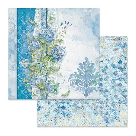 "Stamperia - Flowers For You - Blue Jasmine 12""x12"" Paper"