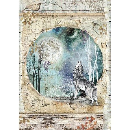 Stamperia - Cosmos Wolf & Moon Rice Paper