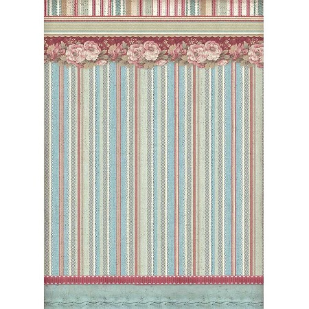 Stamperia - Grand Hotel Striped Wallpaper Rice Paper