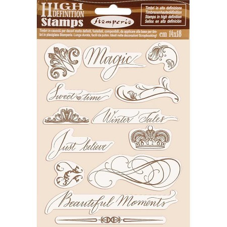 Stamperia - Cling Stamps - Winter Tales Beautiful Moments