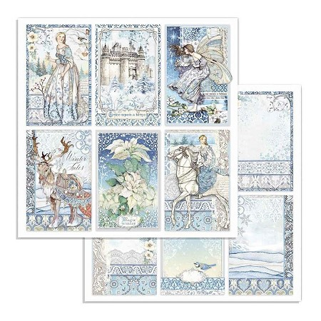 "Stamperia - Winter Tales - Cards 12""x12"" Paper"