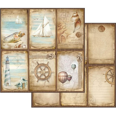 "Stamperia - Sea Land - Cards 12""x12"" Paper"