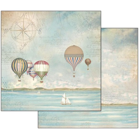 "Stamperia - Sea Land - Balloons 12""x12"" Paper"