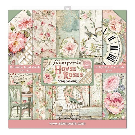Stamperia - House of Roses - Paper Pack