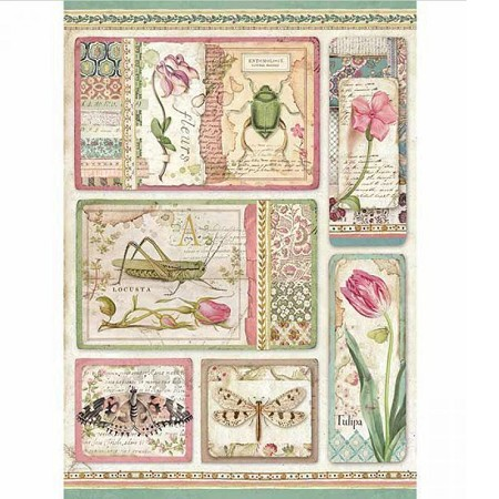 Stamperia - Botanic Cards Rice Paper