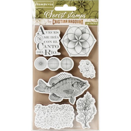Stamperia - Forest Fish Cling Stamps