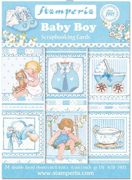 Stamperia - Baby Boy - Journaling Cards