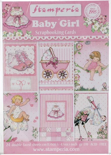 Stamperia - Baby Girl - Journaling Cards