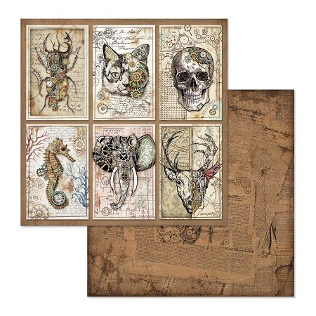 "Stamperia - Mechanical Fantasy - Cards 12""x12"" Paper"