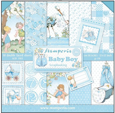 Stamperia - Baby Boy - Paper Pack