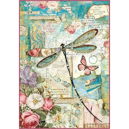 Stamperia - Wonderland - Dragonfly Rice Paper