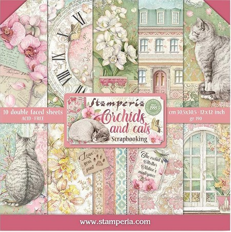 Stamperia - Orchids and Cats - Paper Pack
