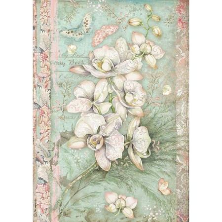 Stamperia - Orchids and Cats White Orchid Rice Paper