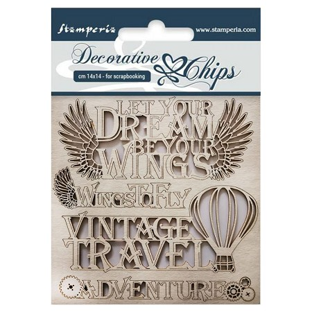 Stamperia - Vagabond Adventure Laser-Cut Chipboard