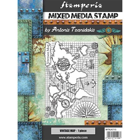 Stamperia - Cling Stamps - Sir Vagabond Vintage Map