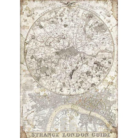 Stamperia - Lady Vagabond Strange London Guide Rice Paper