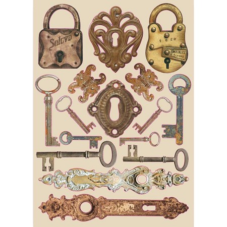 Stamperia - Lady Vagabond Locks & Keys Wood Shapes