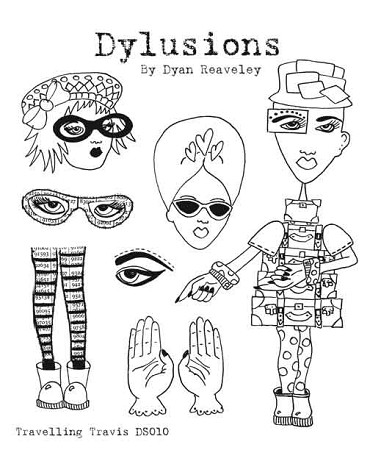 Dylusions - Cling Rubber Stamps - Traveling Travis