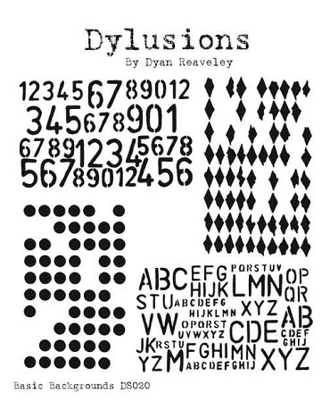 Dylusions - Cling Rubber Stamps - Basic Backgrounds