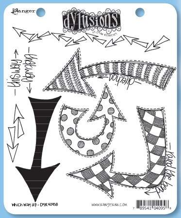 Dylusions - Cling Rubber Stamps - Which Way Up