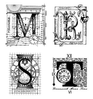 Stamper's Anonymous / Tim Holtz - Cling Rubber Stamp Set - Classics # 15