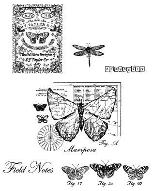 Stamper's Anonymous / Tim Holtz - Cling Rubber Stamp Set - Classics # 17