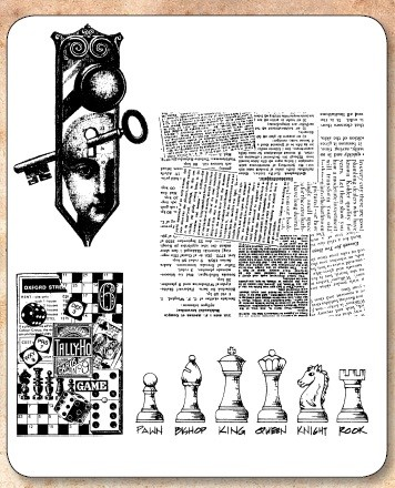 Stamper's Anonymous / Tim Holtz - Cling Rubber Stamp Set - Classics # 20