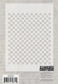 "Stamper's Anonymous - Studio 490 - 6.25x4.5"" Stencil - Checkmate"