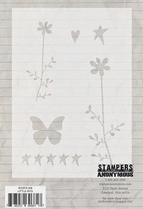 "Stamper's Anonymous - Studio 490 - 6.25x4.5"" Stencil - Little Bits"