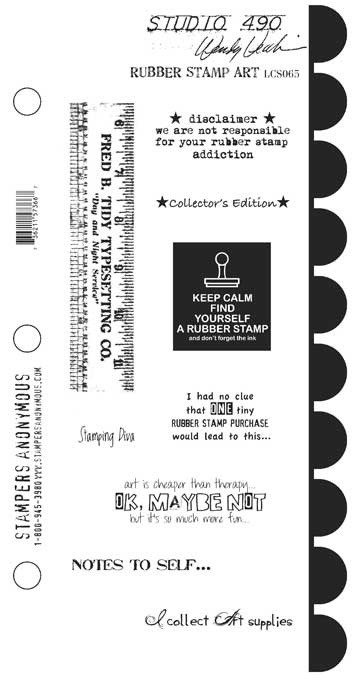 Stamper's Anonymous - Wendy Vecchi Studio 490 Large Stamp Set - Rubber Stamp Art