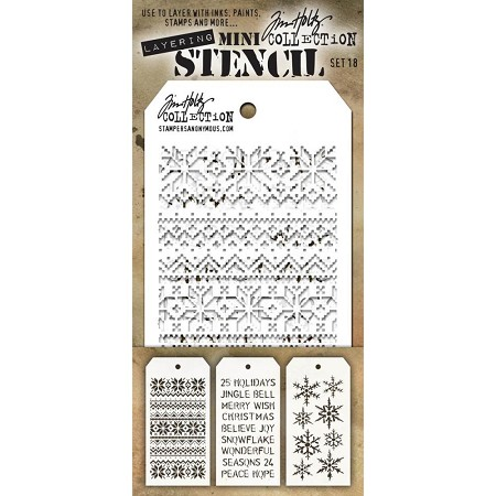 Stamper's Anonymous / Tim Holtz - Mini Layering Stencils - Set #18