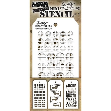 Stamper's Anonymous / Tim Holtz - Mini Layering Stencils - Set #29