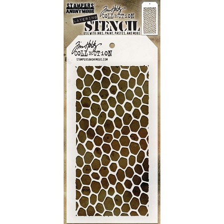 Stamper's Anonymous / Tim Holtz - Layering Stencil - Hive