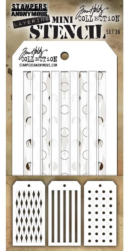 Stamper's Anonymous / Tim Holtz - Mini Layering Stencils - Set #36