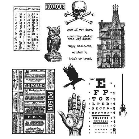 Stamper's Anonymous / Tim Holtz - Cling Mounted Rubber Stamp Set - Mini Halloween #5
