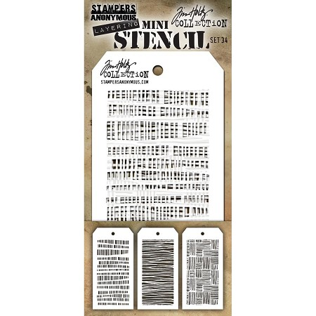 Stamper's Anonymous / Tim Holtz - Mini Layering Stencils - Set #34
