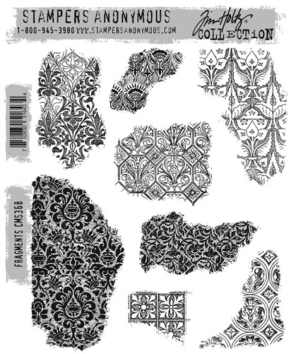 Stamper's Anonymous / Tim Holtz - Cling Mounted Rubber Stamp Set - Fragments