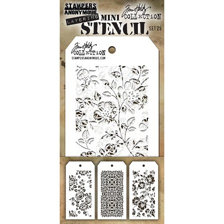 Stamper's Anonymous / Tim Holtz - Mini Layering Stencils - Set #25