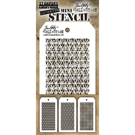 Stamper's Anonymous / Tim Holtz - Mini Layering Stencils - Set #27
