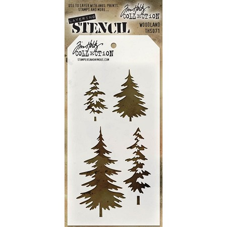 Stamper's Anonymous / Tim Holtz - Layering Stencil - Woodland