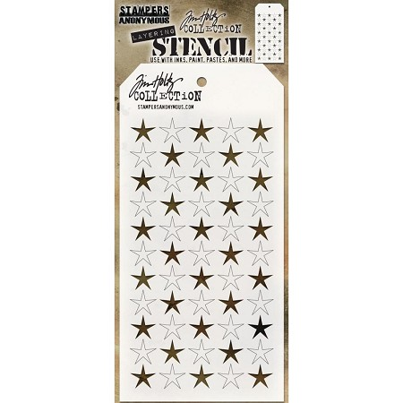 Stamper's Anonymous / Tim Holtz - Layering Stencil - Shifter Stars