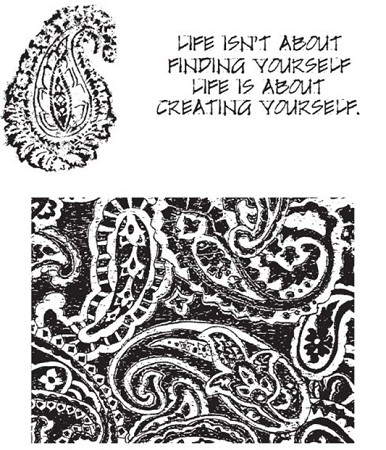 Tim Holtz-Cling Rubber Stamp Set-Paisley Prints