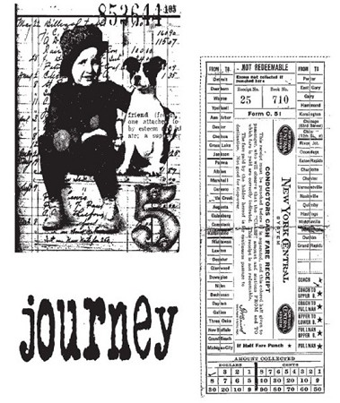 Tim Holtz-Cling Rubber Stamp Set-Traveling Friends