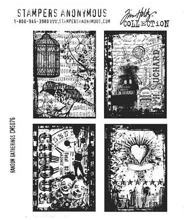 Tim Holtz-Cling Rubber Stamp Set-Random Gatherings