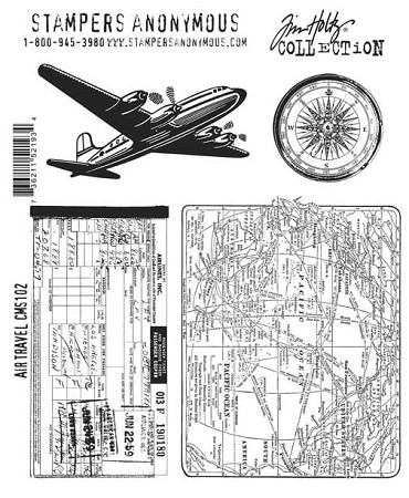 Tim Holtz-Cling Rubber Stamp Set-Travel
