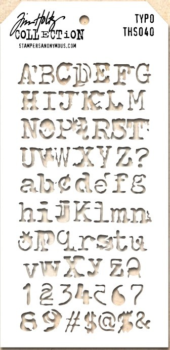 Stamper's Anonymous / Tim Holtz - Layering Stencil - Typo